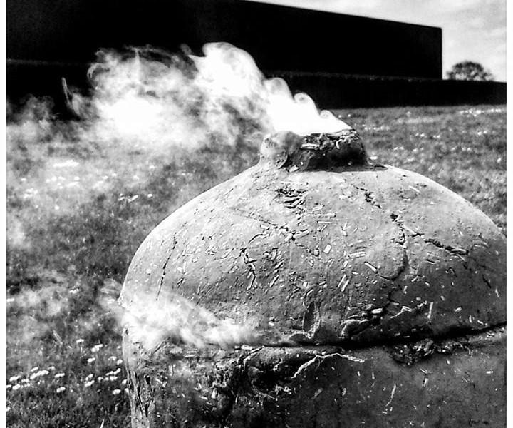 art traces rokende gasfles grijswaarden